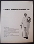 Vintage Ad:1966 Kentucky Fried Chicken With The Colonel
