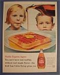 Vintage Ad: 1960 Log Cabin Syrup