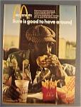 1974 Mc Donald's Restaurant W/man With Quarter Pounder