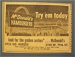 1966 Mc Donald's Hamburgers