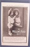 1905 Mellin's Baby Food W/ Little Boy Looking In Mirror