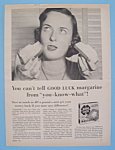 Vintage Ad: 1953 Good Luck Margarine