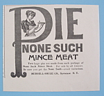 Vintage Ad: 1895 None Such Mince Meat Pie