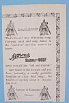 Vintage Ad: 1895 Armour's Extract Of Beef