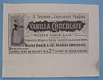 Vintage Ad: 1895 Vanilla Chocolate