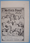 Vintage Ad: 1907 Mellin's Food For The Baby