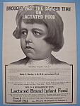 Vintage Ad: 1907 Lactated Brand Infant Food
