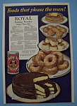 Vintage Ad: 1920 Royal Baking Powder
