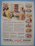 1931 Hormel Ham With Group Of Women Talking