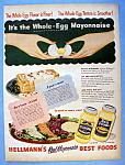 Vintage Ad: 1951 Hellmann's Real Mayonnaise