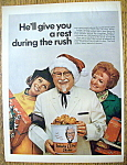 Vintage Ad: 1968 Kentucky Fried Chicken W/ The Colonel