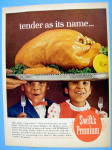 1965 Swift Premium Turkey W/ Children Looking & Smiling