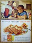 1963 Aunt Jemima Pancake Mix W/ Kids & Mom