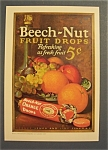 1929 Beech-nut Fruit Drops Ad With Orange Drops
