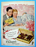 1949 Whitman's Chocolates W/man & Woman And Baby