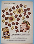 1959 Kraft Fudgies With A Woman Eating The Fudgies