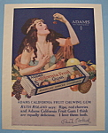 Vintage Ad: 1919 Adams California Fruit Chewing Gum