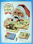 1949 Whitman's Sampler With Santa Claus