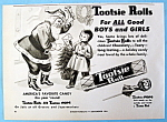 Vintage Ad: 1954 Tootsie Rolls With Santa Claus