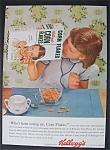 1954 Kellogg's Corn Flakes W/girl Looking In The Box