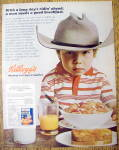 1971 Kellogg's Frosted Flakes Cereal With Boy As Cowboy