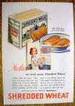 1931 Shredded Wheat With Girl Holding Box Of Cereal