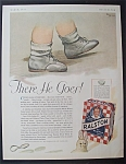 1931 Ralston Whole Wheat Cereal W/ Baby's Feet Walking