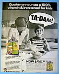 Vintage Ad: 1970 Quaker King Vitaman Cereal