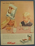 1955 Kellogg's Corn Flakes Cereal W/girl Looking At Boy