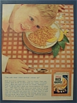 1955 Kellogg's Rice Krispies Cereal W/boy Listening