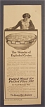 1914 Quaker Oats Cereal With Woman Looking Into Bowl