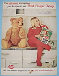 Vintage Ad: 1959 Post Sugar Crisp Cereal
