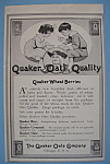 Vintage Ad: 1907 Quaker Wheat Berries