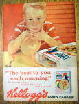 1959 Kellogg's Corn Flakes Cereal With Little Boy