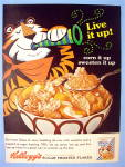 1965 Kellogg's Frosted Flakes With Tony The Tiger