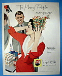 1958 Pepsi Cola (Pepsi) With Woman Putting On A Hat