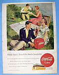 1949 Coca Cola (Coke) With Two Couples Picnicing