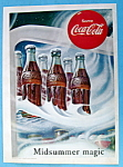 1953 Coca Cola (Coke) W/ 6 Bottles In The Refrigerator