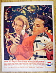 1963 Pepsi Cola (Pepsi) W/man & Woman Holding Bottles