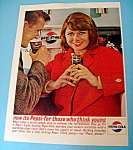 1963 Pepsi-cola (Pepsi) With Woman In Bright Red Coat