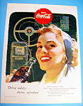 1953 Coca Cola (Coke) With Woman Drinking