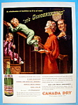 1937 Canada Dry Ginger Ale With Boy Sliding On Railing