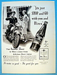 1937 Hires Root Beer With Waitress & Policeman