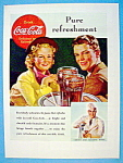 1938 Coca Cola (Coke) With Girl & Boy Being Served