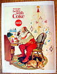 1966 Coca Cola (Coke) With Santa Claus By Desk
