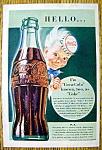1942 Coca Cola (Coke) With Man Wearing A Bottle Cap