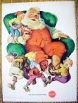 1960 Coca Cola (Coke) W/ The Elves Serving Santa Claus