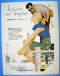 1958 Pepsi Cola (Pepsi) With A Man & Woman On The Dock