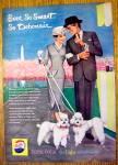 1959 Pepsi Cola (Pepsi) W/ Woman & Man Walking Poodles