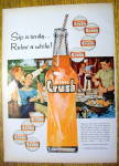 1959 Orange Crush With People Barbecuing